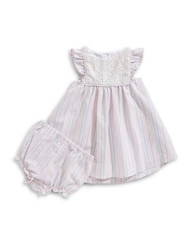 Pippa & Julie Lace Stripe Dress and Bloomers Set 89918635