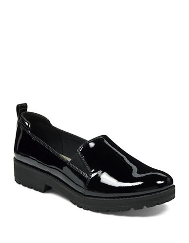 Anne Klein Believer Slip-on Loafers-BLACK-7.5