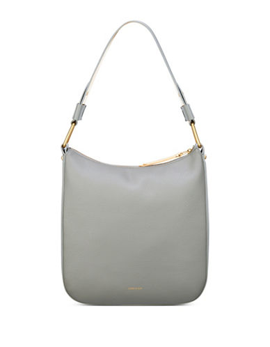 Anne Klein Maddie Zippered Hobo-GREY-One Size