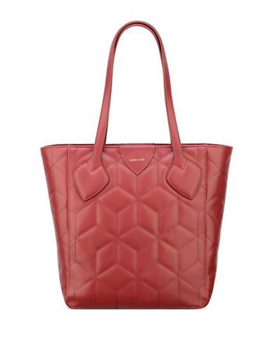 Anne Klein Georgia Zippered Tote-RED-One Size