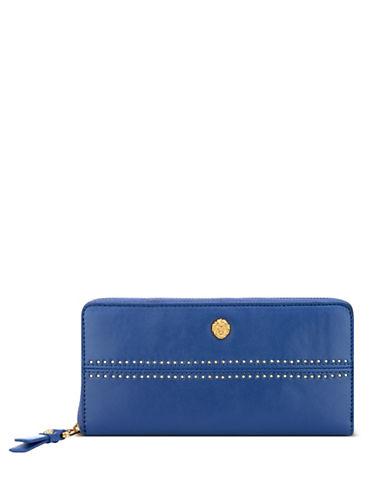Anne Klein Slim Continental Wallet-BLUE-One Size