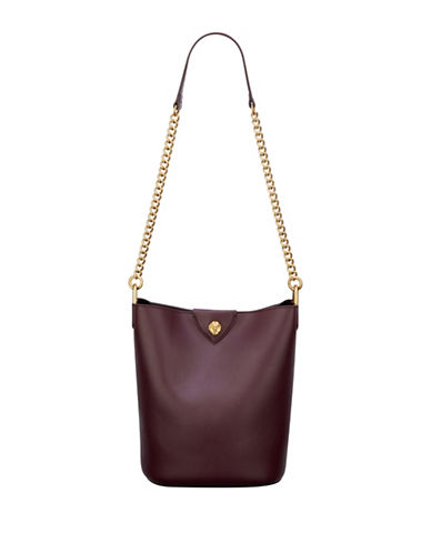 Anne Klein Mila Chain Bucket Bag-RED-One Size