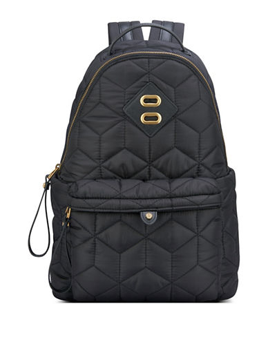 Anne Klein Jane Zippered Backpack-BLACK-One Size