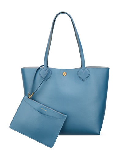 Anne Klein Signature Reversible Tote-BLUE-One Size