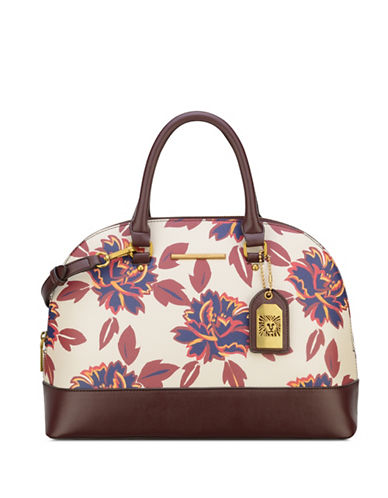 Anne Klein Buckle Up Dome Satchel-MULTI-One Size
