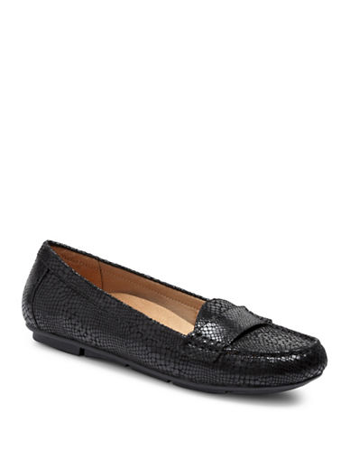 Vionic Chill Larrun Leather Loafers-BLACK SNAKE-8