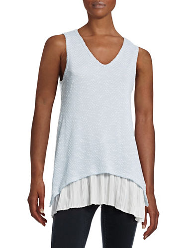 Design Lab Lord & Taylor Sharkbite Accordion Layer Tank-BLUE-Small 88378901_BLUE_Small