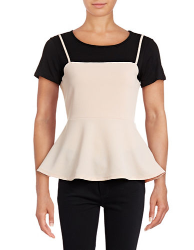 Design Lab Lord & Taylor Twofer Cami Top-PINK-X-Small 88901108_PINK_X-Small