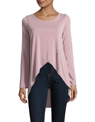 Design Lab Lord & Taylor Crossover Top-PINK-X-Small 89000884_PINK_X-Small
