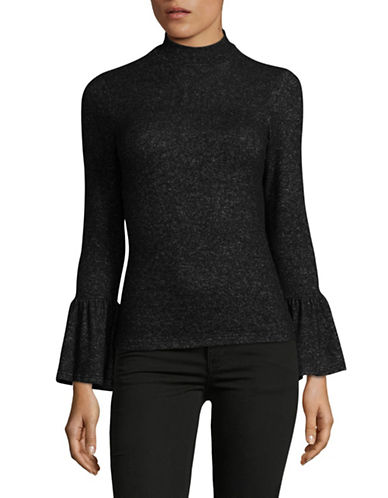 Design Lab Lord & Taylor Bell Cuff Sweater-BLACK-Small