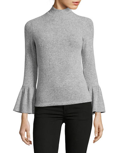 Design Lab Lord & Taylor Bell Cuff Sweater-GREY-Medium