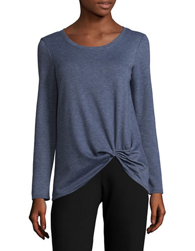 Design Lab Lord & Taylor Long Sleeve Tee-BLUE-Large