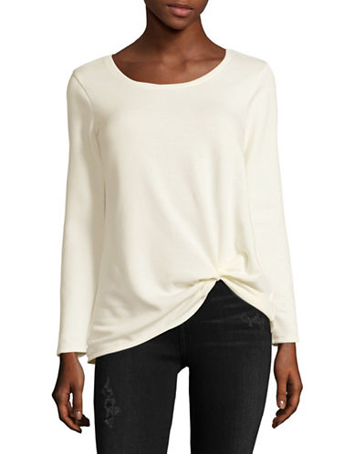 Design Lab Lord & Taylor Long Sleeve Tee-WHITE-X-Small