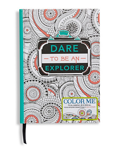 Gibson Books Dare To Be An Explorer Colouring Book-MULTI-One Size