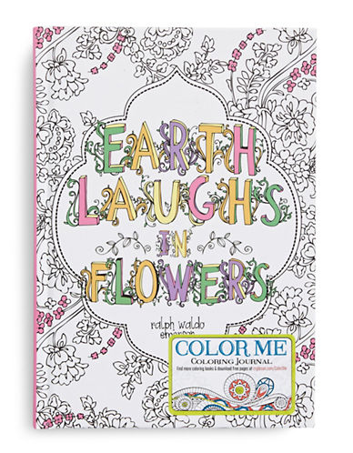 Gibson Books Earth Laughs in Flowers Colouring Journal-MULTI-One Size