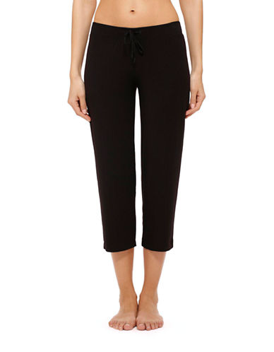 Dkny Seven Easy Pieces Capri Pant-BLACK-Medium