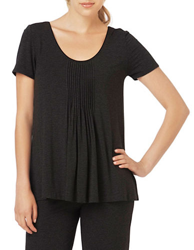 Dkny Seven Easy Pieces Shortsleeve Top-BLACK-X-Large