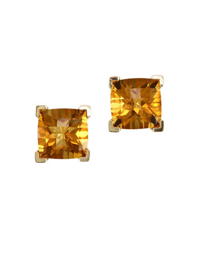 Effy 14K Yellow Gold Citrine Earrings-CITRINE-One Size