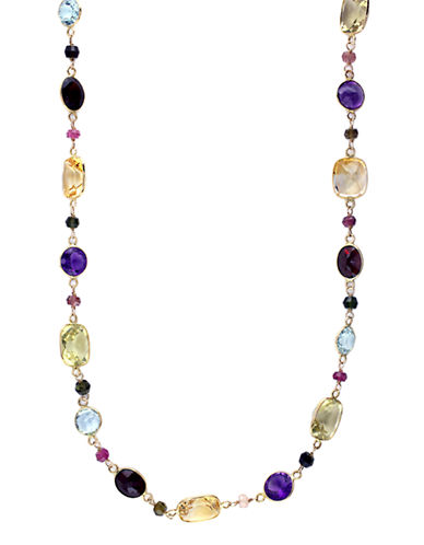 Effy 14K Yellow Gold  Multi Colour Necklace-MULTI COLOURED-One Size