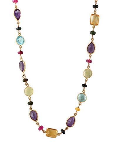 Effy 14K Yellow Gold Amethyst, Topaz, Citrine, Quartz and Tourmaline Necklace-MULTI-One Size