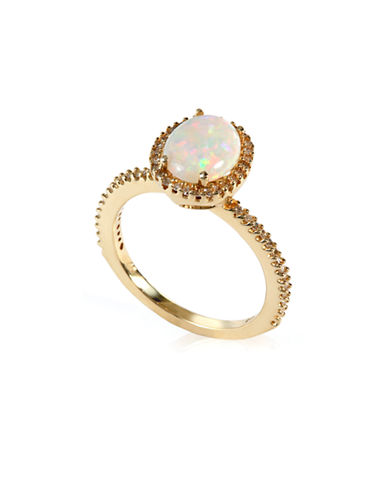 Effy 14k Yellow Gold Diamond and Opal Ring-OPAL-7