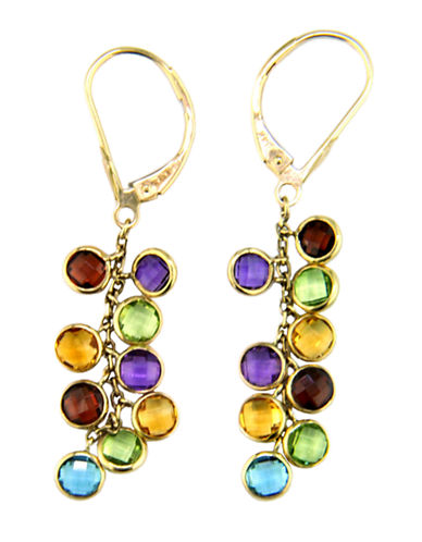 Effy 14K Yellow Gold Multi Coloured Gemstone Drop Earrings-MULTI COLOURED-One Size