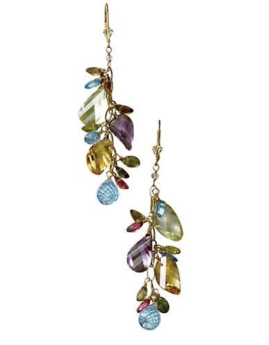 Effy 14K Yellow Gold Multi Coloured Gemstone Drop Earrings-MULTI COLOURED-One Size