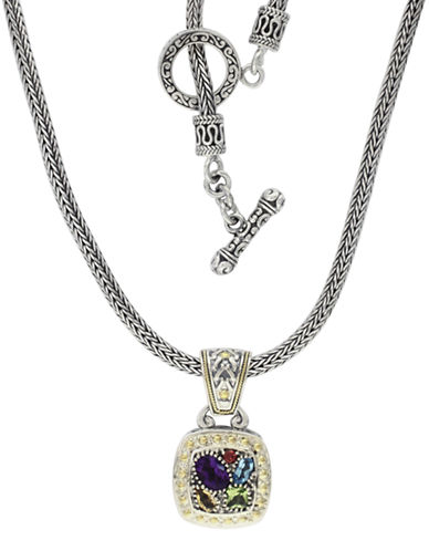 Effy 18K Yellow Gold and Sterling Silver Semi Precious Stone Pendant-MULTI SEMI PRECIOUS STONE MIX-7