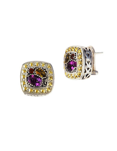 Effy 18K Yellow Gold and Sterling Silver And Multi Coloured Topaz Earrings-MULTI COLOURED-One Size