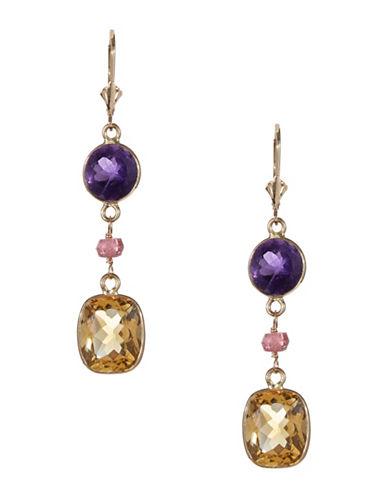 Effy 14K Yellow Gold Multi Stone Drop Earrings-GOLD-One Size