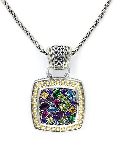 Effy Sterling Silver 18K Yellow Gold And Multi Gemstone Pendant-MULTI COLOURED-One Size