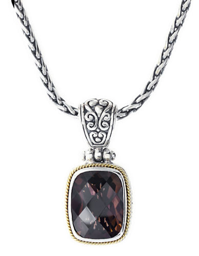 Effy 18k Yellow Gold and Silver Smoky Quartz Pendant-SMOKEY-One Size