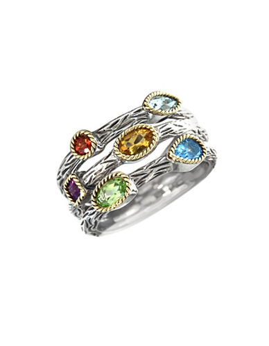 Effy Sterling Silver And 18 Kt Yellow Gold Multi Ring-SILVER/GOLD-7