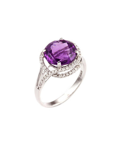 Effy 14K White Gold Diamond Amethyst Ring-DIAMOND/AMETHYST-7