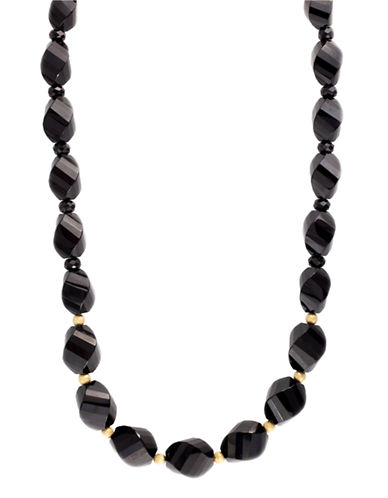 Effy Black Onyx Necklace in 14 Kt Yellow Gold-NO COLOUR-One Size
