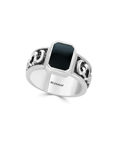Effy Men s 925 Sterling Silver Onyx Ring-BLACK-7