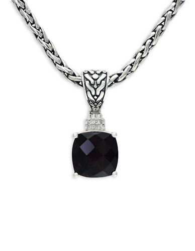 Effy Smoky Quartz and Sterling Silver Pendant Necklace with 0.03 TCW Diamonds-BROWN-One Size