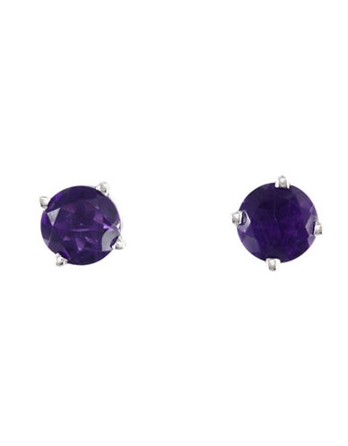Effy 14K White Gold Amethyst Earrings-AMETHYST-One Size