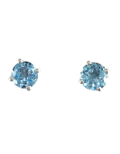 Effy 14K White Gold Blue Topaz Earrings-BLUE TOPAZ-One Size