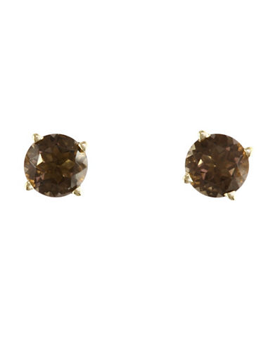 Effy 14K Yellow Gold Smokey Quartz Earrings-QUARTZ-One Size