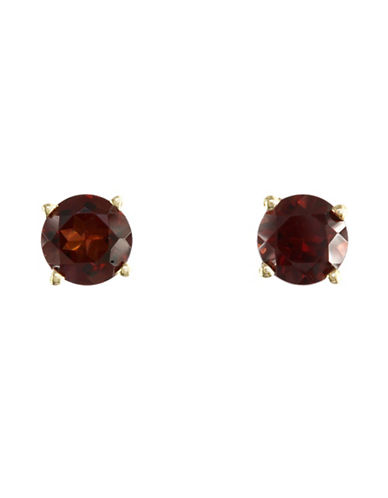 Effy 14K Yellow Gold Garnet Earrings-GARNET-One Size
