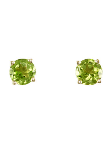 Effy 14K Yellow Gold Peridot Earrings-PERIDOT-One Size