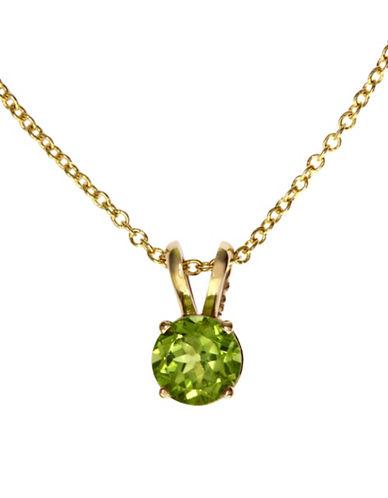 Effy 14K Yellow Gold Peridot Pendant-PERIDOT-One Size