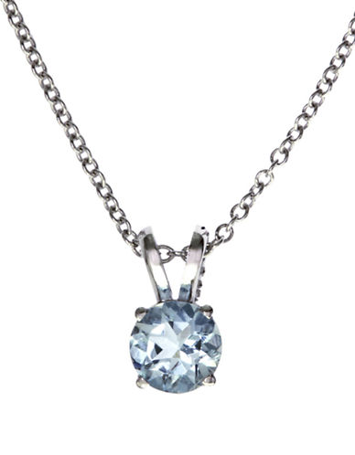 Effy 14K White Gold Aquamarine Pendant-AQUAMARINE-One Size