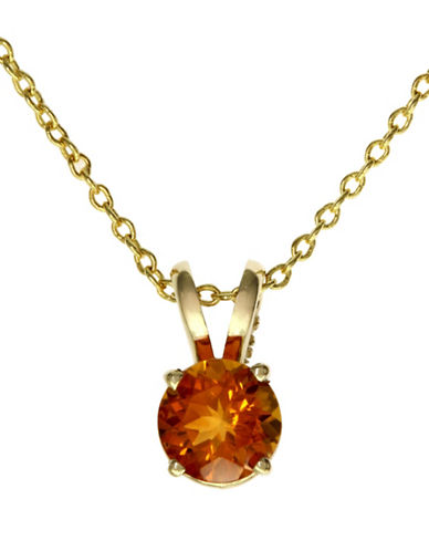 Effy 14K Yellow Gold Citrine Pendant-CITRINE-One Size