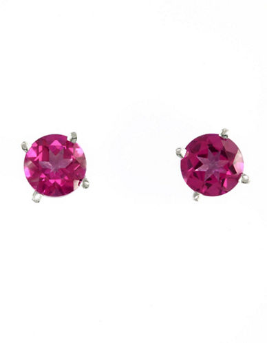Effy 14K White Gold Pink Topaz Earrings-PINK TOPAZ-One Size