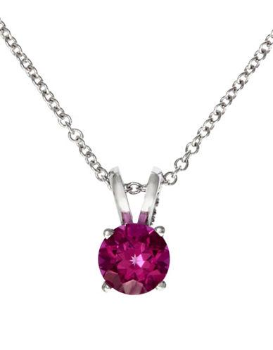 Effy 14K White Gold Pink Sapphire Pendant-SAPPHIRE-One Size