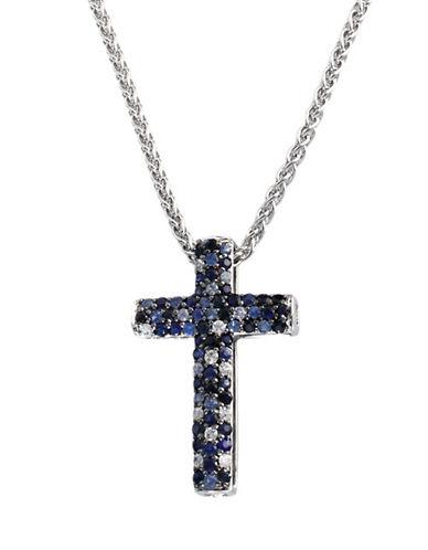 Effy Sterling Silver Sapphire Cross Pendant-SAPPHIRE-One Size