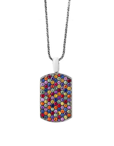 Effy Sterling Silver Paved Pendant Necklace-MULTI-One Size