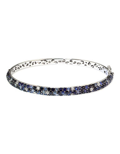 Effy Sterling Silver Blue Sapphire Bangle-SAPPHIRE-One Size
